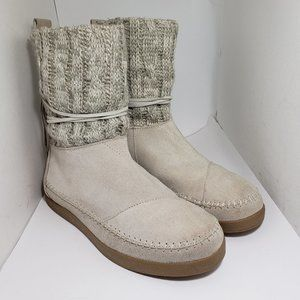 TOMS Nepal sweater boots sand size 8.5